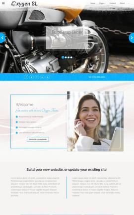 Oxygen Motorcycle Dreamweaver Template