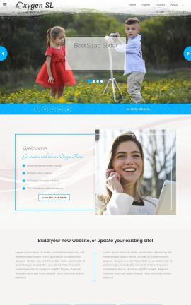 Oxygen Photography Website Template