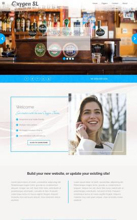 Oxygen Pub Website Template
