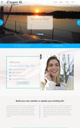 Oxygen Sailing Website Template
