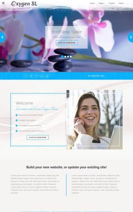 Oxygen Spa Website Template