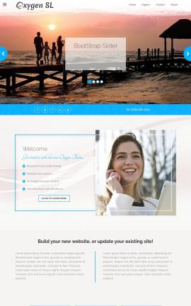 Oxygen Travel Website Template