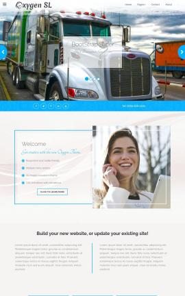 Oxygen Trucking Website Template
