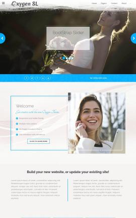 Oxygen Wedding Website Template