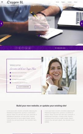 Oxygen Accounting Website Template