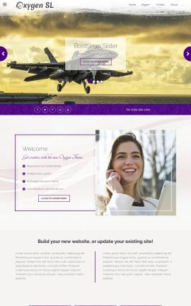 Oxygen Aviation Website Template