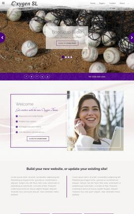 Oxygen Baseball Website Template