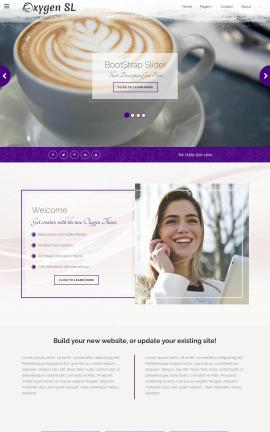 Oxygen Cafe Website Template
