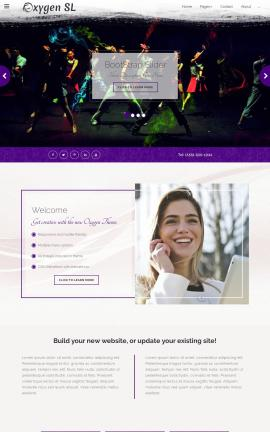 Oxygen Dance Website Template