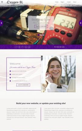 Oxygen Electrical Website Template