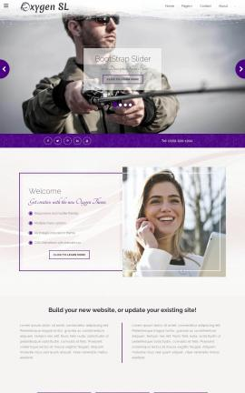 Oxygen Fishing Website Template
