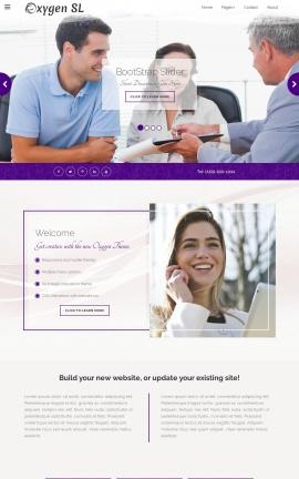 Oxygen Insurance Website Template