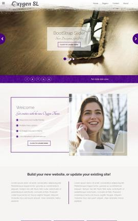 Oxygen Janitorial Website Template