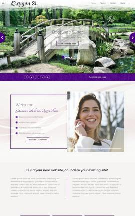 Oxygen Landscaping Website Template