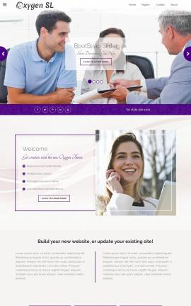 Oxygen Real-estate Website Template