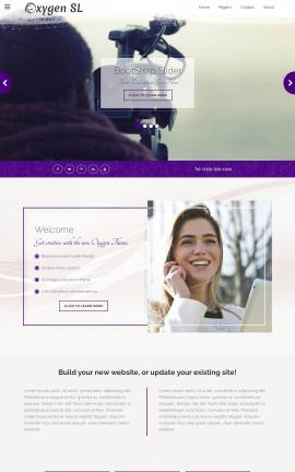 Oxygen Videography Website Template