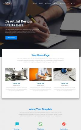 Ultra Accounting Website Template