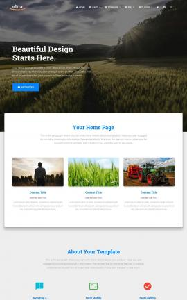 Ultra Agriculture Website Template