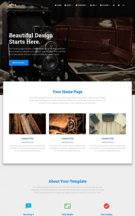 Ultra Antiques Website Template