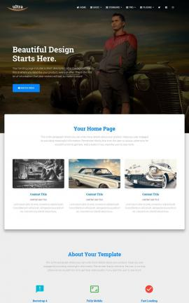 Ultra Automobile Website Template