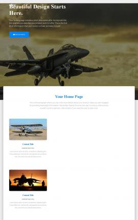 Ultra Aviation Website Template