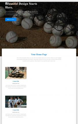Ultra Baseball Website Template