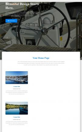 Ultra Boating Website Template