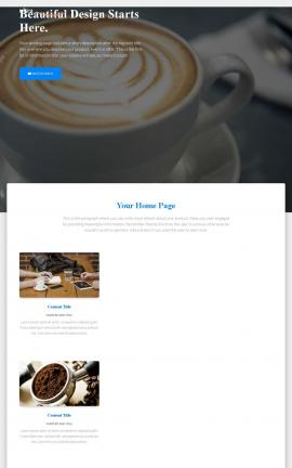 Ultra Cafe Website Template