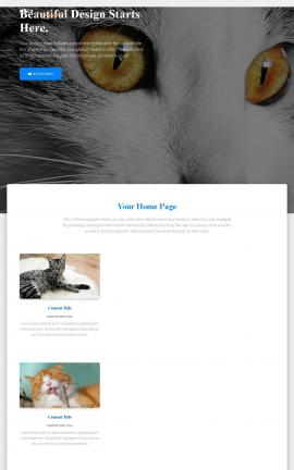 Ultra Cats Website Template