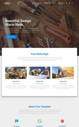Ultra Construction Website Template