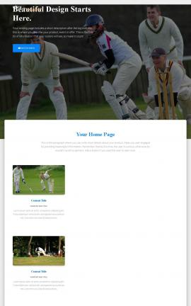 Ultra Cricket Website Template