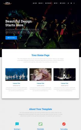 Ultra Dance Website Template