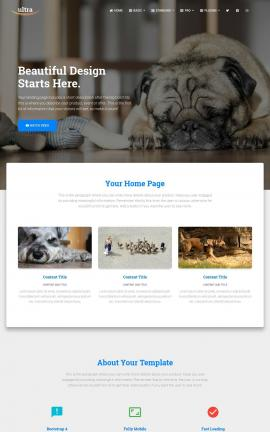 Ultra Dogs Website Template