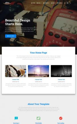 Ultra Electrical Website Template