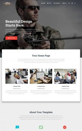 Ultra Fishing Website Template