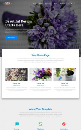 Ultra Floral Website Template