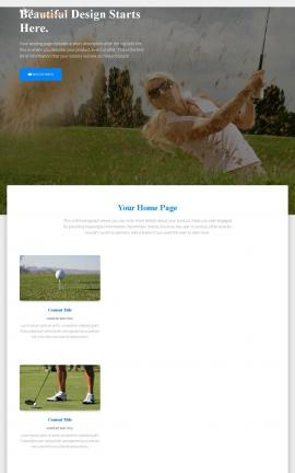 Ultra Golf Website Template