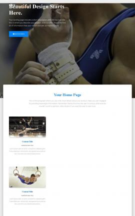 Ultra Gymnastics Website Template