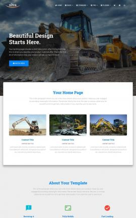 Ultra Heavy-machines Website Template
