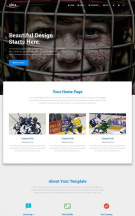 Ultra Hockey Website Template