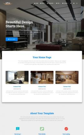 Ultra Interior-design Website Template