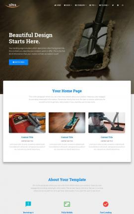 Ultra Janitorial Website Template