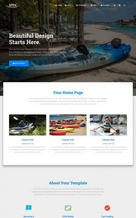 Ultra Kayak Website Template
