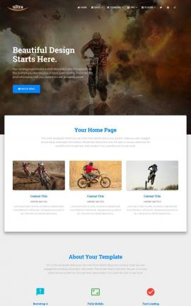 Ultra Motocross Website Template