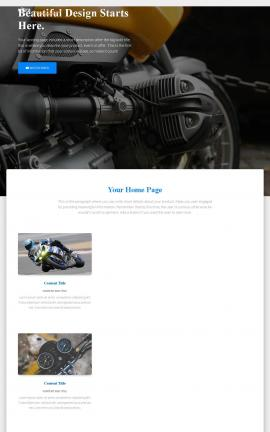 Ultra Motorcycle Website Template
