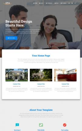 Ultra Real-estate Website Template