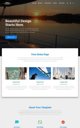 Ultra Sailing Website Template