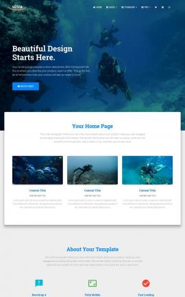 Ultra Scuba-diving Website Template