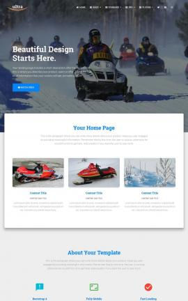 Ultra Snowmobile Website Template