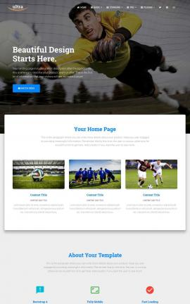 Ultra Soccer Website Template